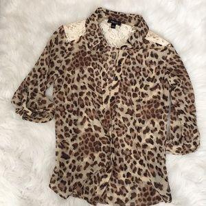 Is Byer 3/4 sleeve cheetah blouse
